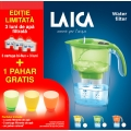 SET Cana filtranta Laica Stream + 3 cartuse Bi-Flux + pahare colorat