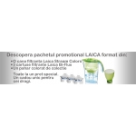 SET Cana filtranta Laica Stream + 3 cartuse Bi-Flux + pahar colorat