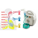 Aparat aerosoli cu compresor Little Doctor LD-211C, cu 3 dispensere