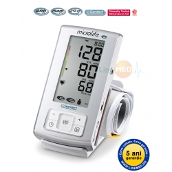 Tensiometru digital de brat Microlife BP BP A6 PC, tehnologie AFIB, Gentle+, conectare PC, adaptor retea, validat clinic