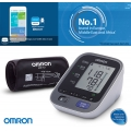 Tensiometru Omron M7 Intelli IT cu Bluetooth - brat, manseta inteligenta, LED-uri avertizare, transfer date catre app Omron Connect, 3 ani garantie - RETURNAT