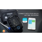 Tensiometru automat de brat Omron MIT5 Connect, conectare smartphone prin bluetooth, validat clinic, baterii Duracell