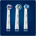 Set Oral-B 3 buc (CrossAction, Sensitive, 3D White) capete periaj periuta electrica