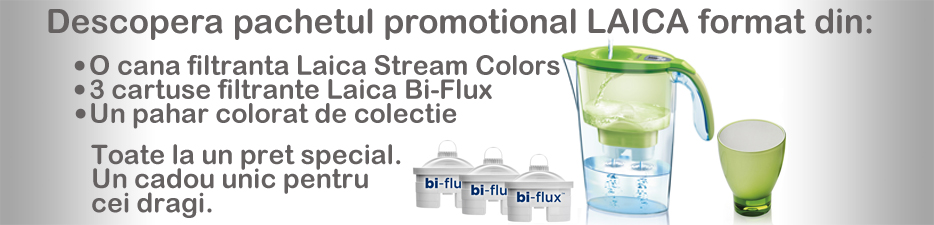 cana-filtranta-Laica-Stream-cartuse-BiFlux-pahar-colorat-linemed