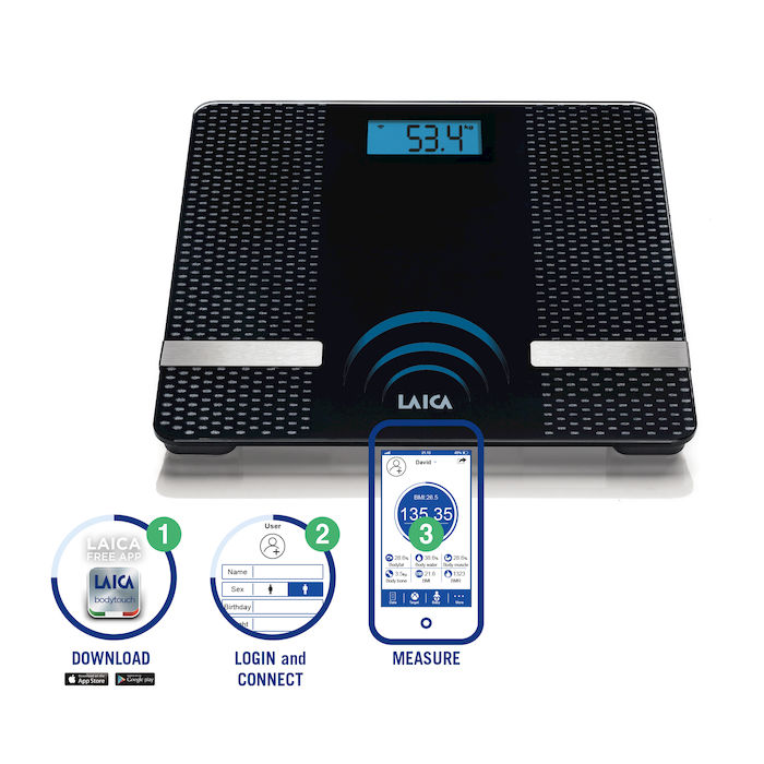 Analizor-corporal-Smart-Body-Composition-Laica-PS7002-Bluetooth