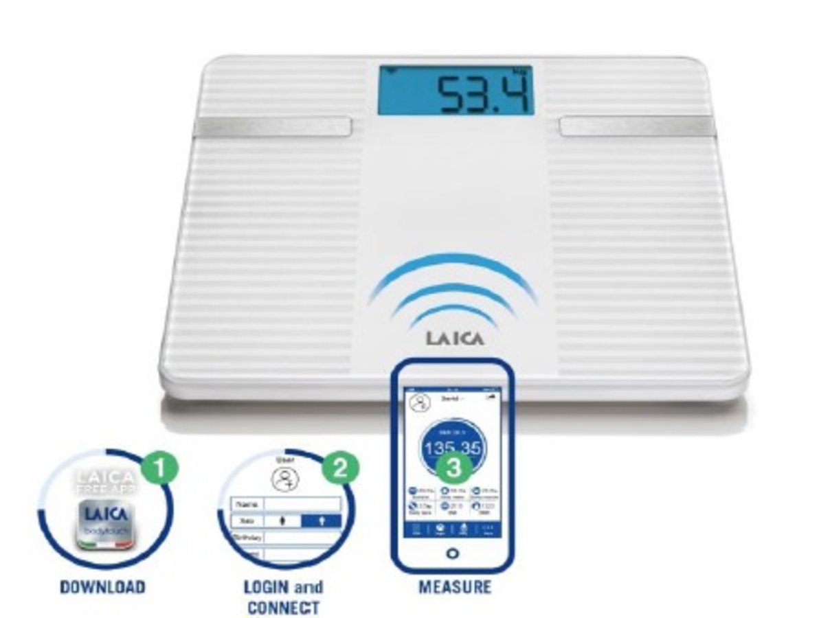 Analizor-corporal-Smart-Body-Composition-Laica-PS7003-Bluetooth