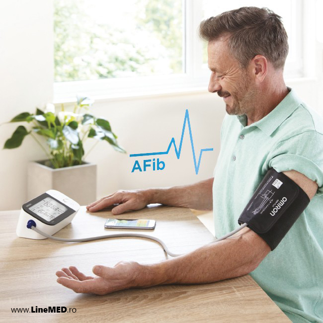 Tensiometru-OMRON-M7-Afib-transfer-date-Bluetooth-Omron-connect